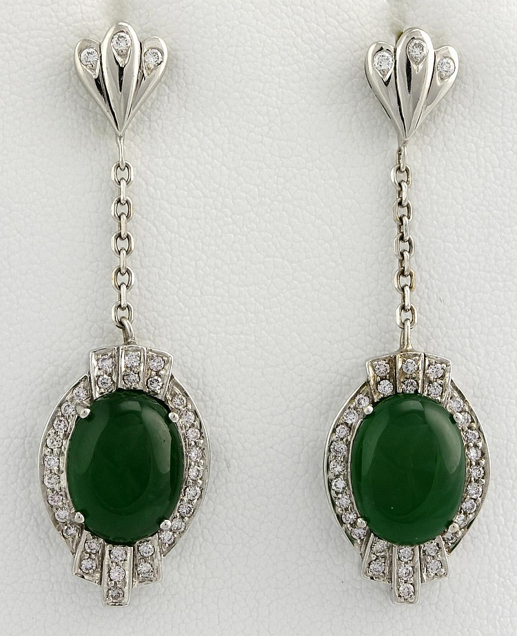Chinese Jadeite Earrings