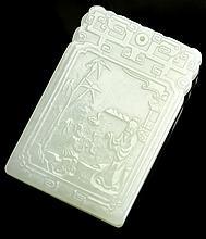 Chinese Jadeite Square Pendant