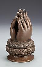 Chinese Yixing Buddha Hand Censer