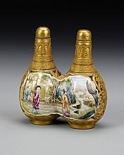 Chinese Famille Rose Double Rotating Snuff Bottle