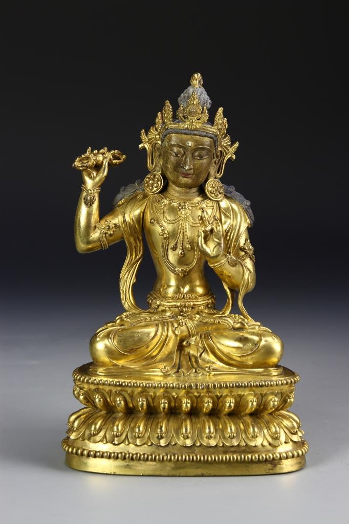 Chinese Gilt Tibetan Buddha