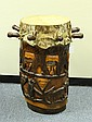 Antique Carved Wood Tribal Drum