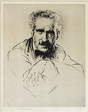 American Etching of a Man