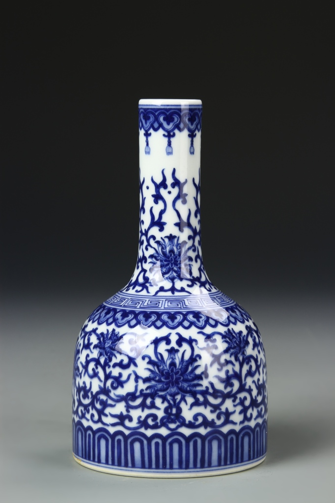 Chinese Blue and White Bell Vase