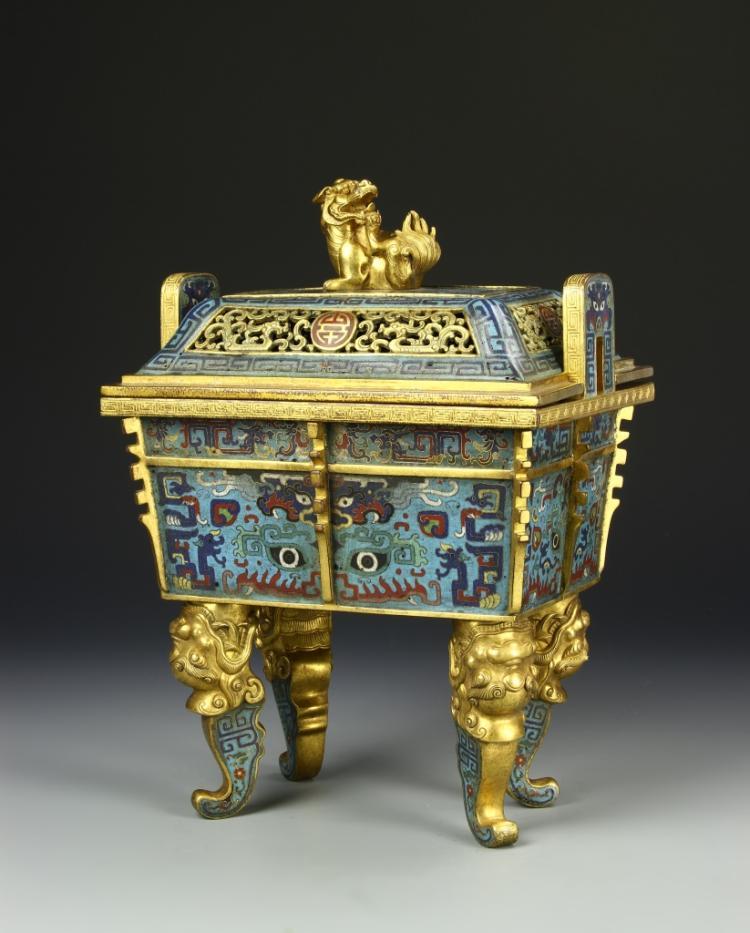 Chinese Antique Cloisonne Censer