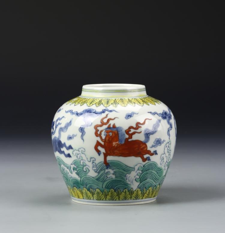 Chinese Doucai Jar
