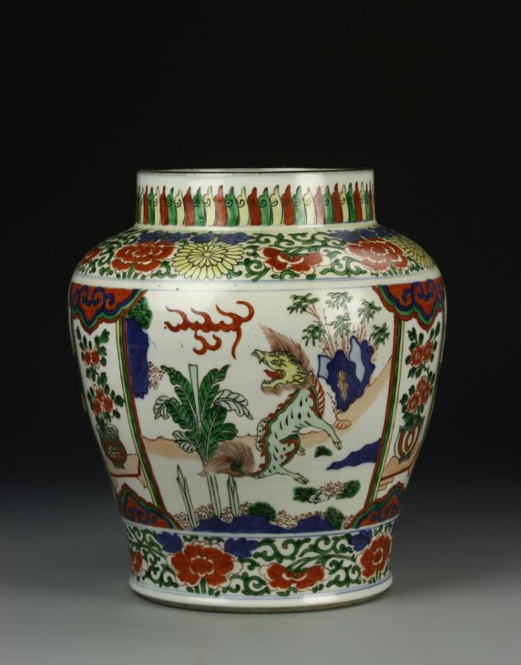 Chinese Wucai Jar