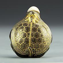 Chinese Gilt Porcelain Snuff Bottle