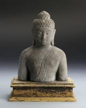 Chinese Asian Sand Stone Buddha Figure