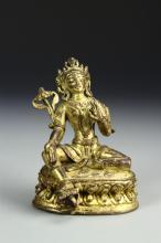 Chinese Gilt Bronze Figure of Tara Tibet