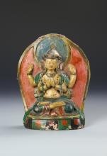Chinese Tibetan Pottery Buddha
