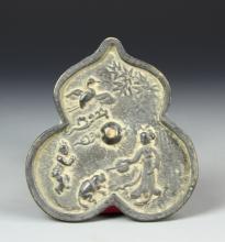 Chinese Antique Gourd Bronze Mirror
