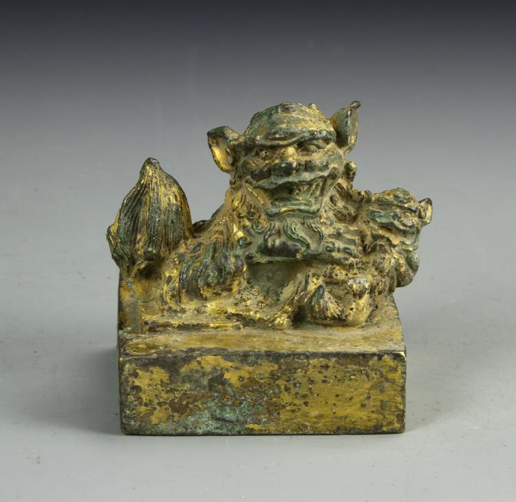 Chinese Antique Gilt Seal