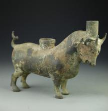 Chinese Antique Bronze Cow