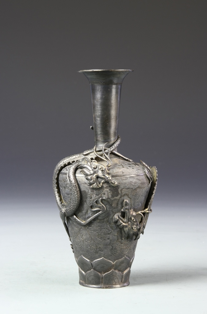 Chinese Silver Vase