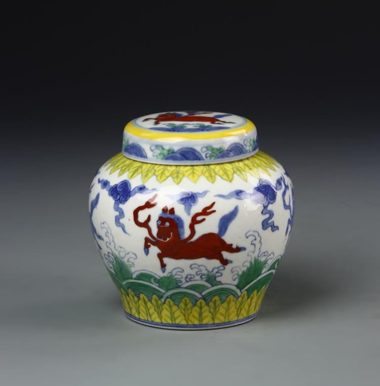 Chinese Doucai Jar