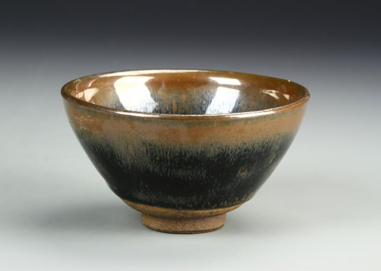 Chinese Pair Of Jian Yao Bowls