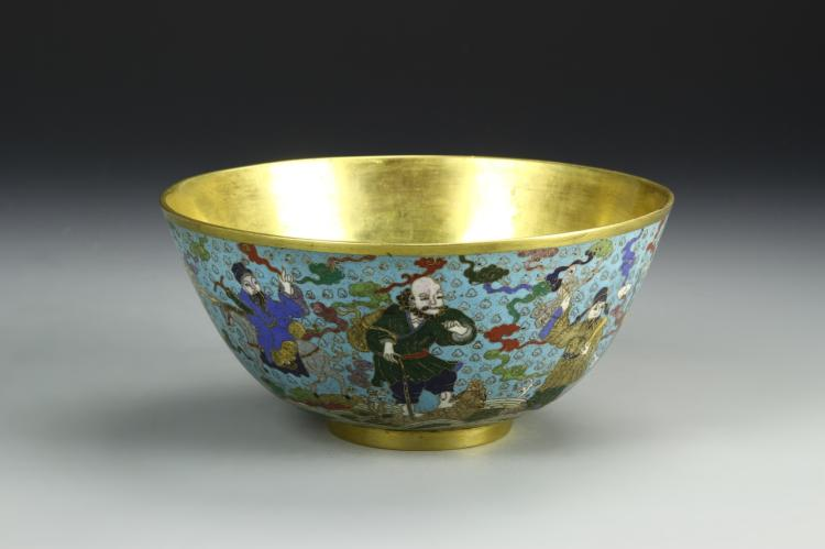 Chinese Antique Cloisonne Bowl
