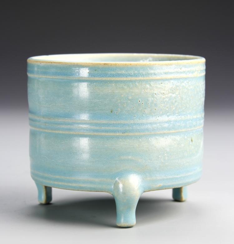 Chinese Ru Yao Ware Tripod Censer