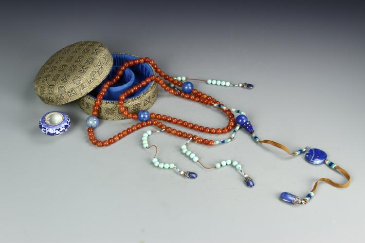 Chinese Court Necklace With A Bird Feeder