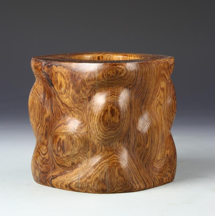 Chinese Hardwood Brush Pot