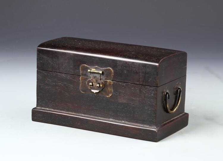 Chinese Zitan Wood Scholars Box