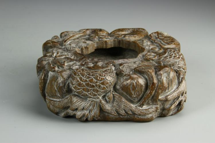 Chinese Carved Brush Washer