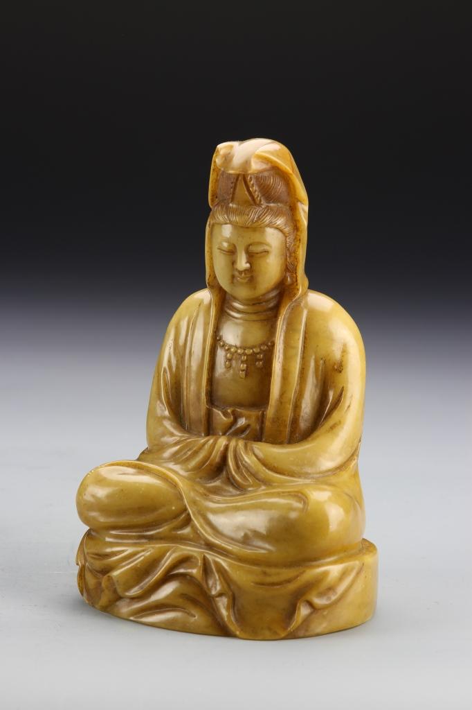 Chinese Shoushan Stone Buddha