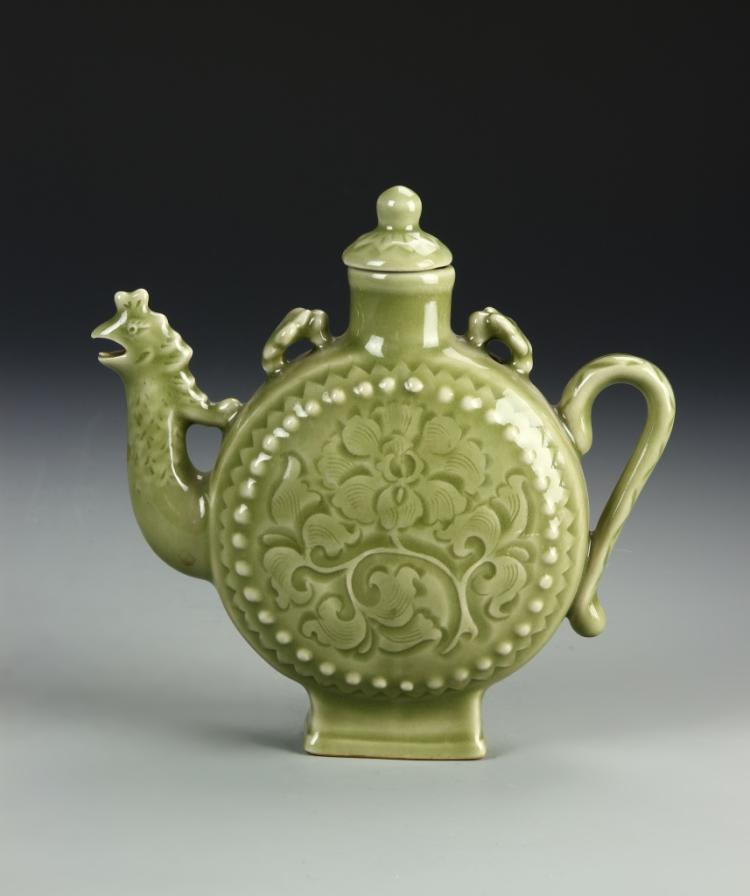 Chinese Yue Yao Wine Pot