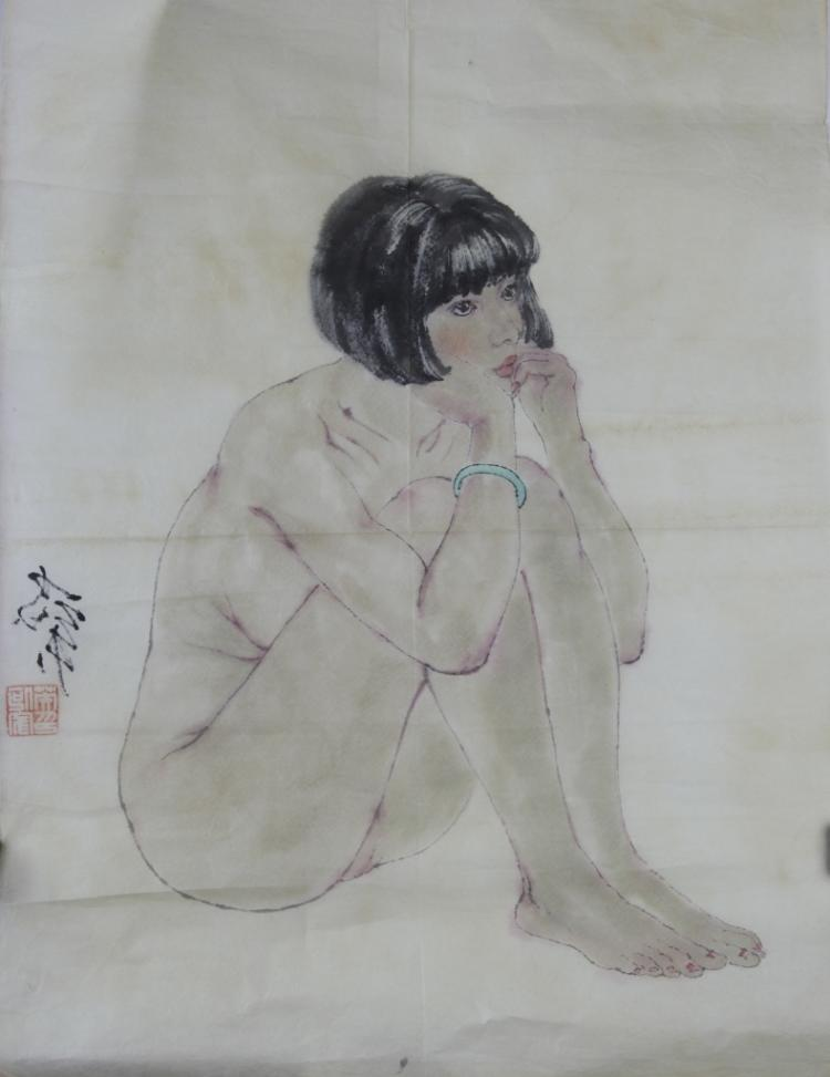 Chinese Ink And Color On Paper