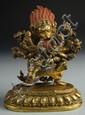 Sino-Tibetan Gilt Bronze Buddha Stature