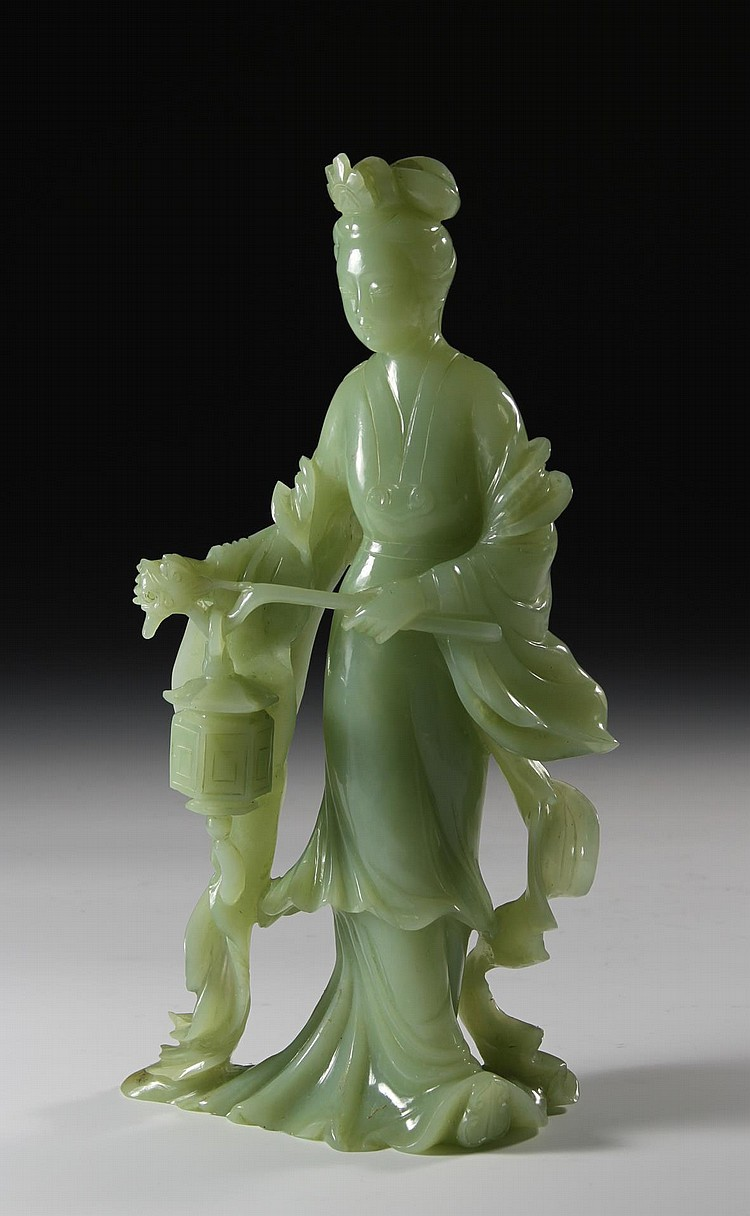 Chinese Jade Lady Figure