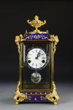 Chinese Gilt And Enameled Clock