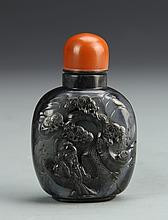 Chinese Black and White Jade Snuff Bottle