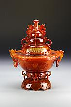 Chinese Agate Censer
