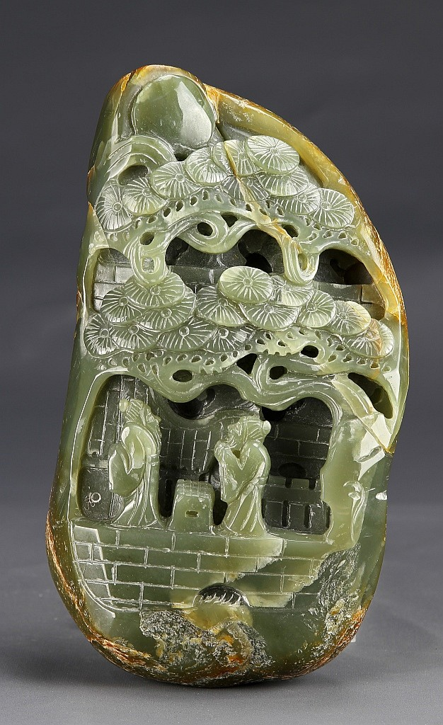 Chinese Carved Jade Boodle