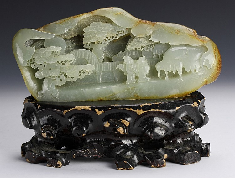 Chinese Carved Jade Mountain