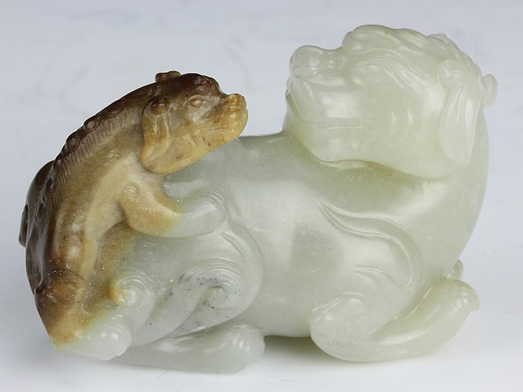 Chinese Carved Jade Foo Lion