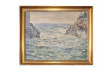 "Adolf Wiesler (1878-1958) ""Steep coast"" |Adolf Wiesler (1878-1958) ""Steilküste"""