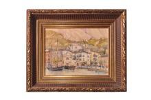 "Adolf Wiesler (1878-1958) ""View of Malcesine on Lake Garda"" |Adolf Wiesler ( 1878-1958) ""Blick auf Malcesine am Gardasee"""