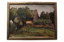 "Ferdinand Kitt (1887-1961)"" Garden landscape with house"" | Ferdinand Kitt (1887-1961) ""Gartenlandschaft mit Haus"""