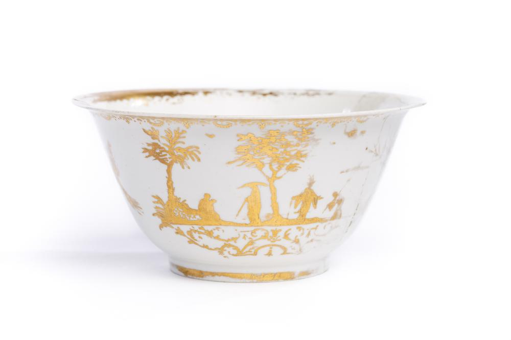 Bowl with gold painting, Meissen 1720/25 | Kumme, Meissen 1720/25