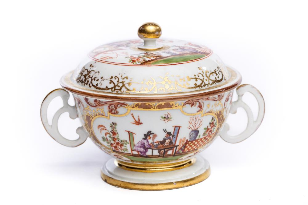 Small, two-handled tureen with lid, Meissen 1725 | Kleine Suppenschale, Meissen 1725