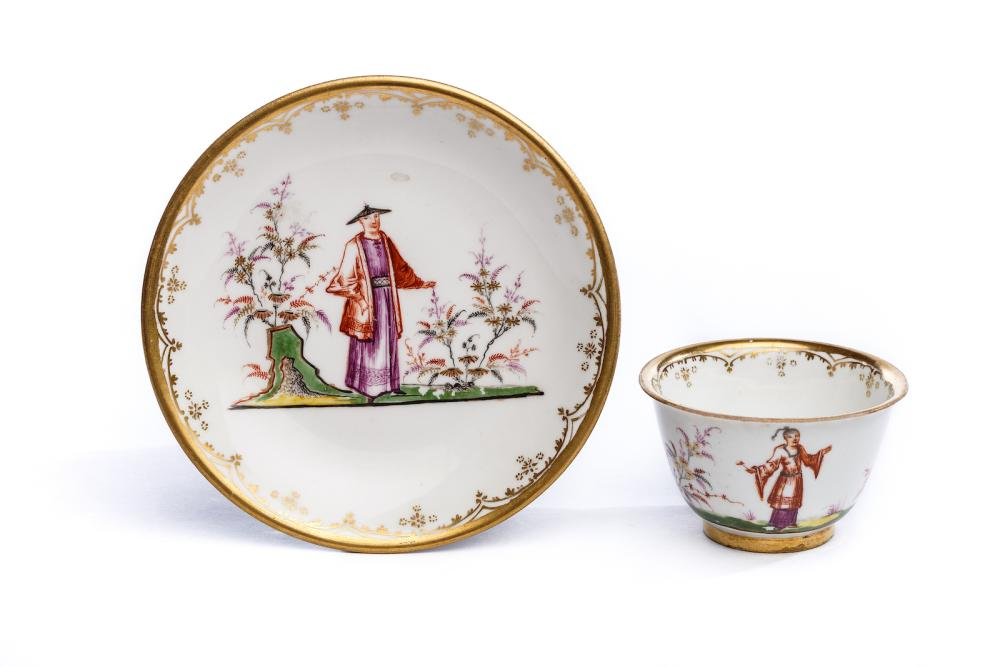 Bowl with saucer, Meissen 1720-25