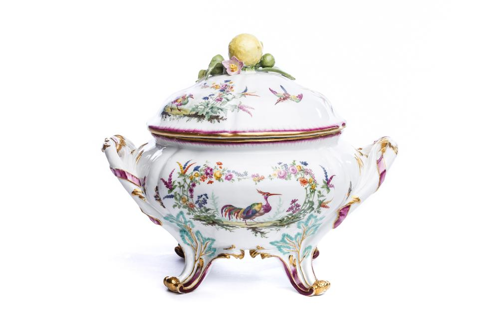 "Lidded tureen from the"" Finkenstein Service"", Meissen 1755 
