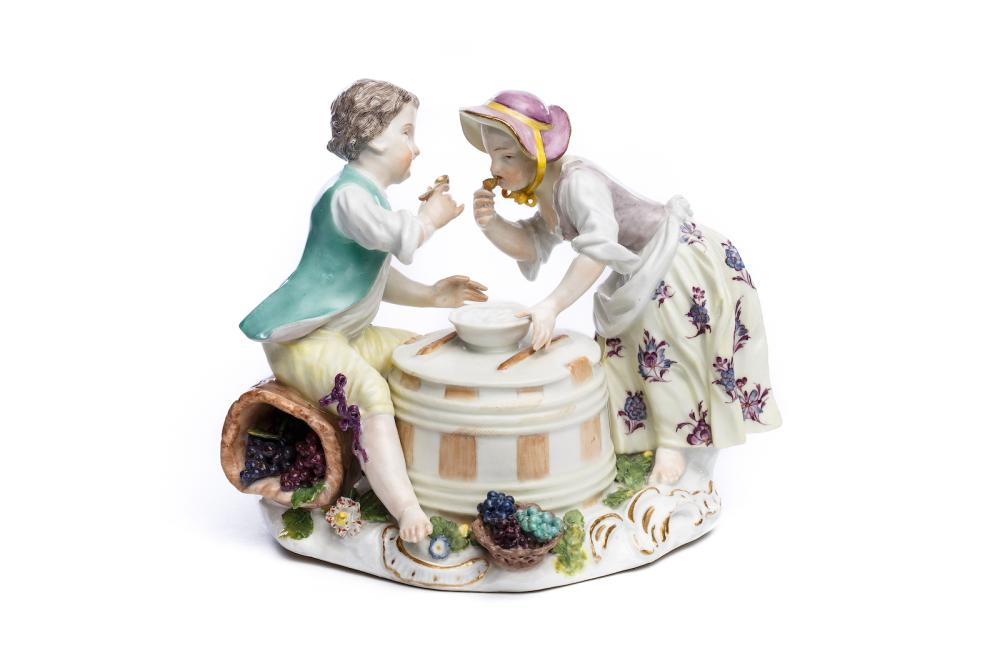 "Figure group ""Wine grower children"", Meissen 1750 