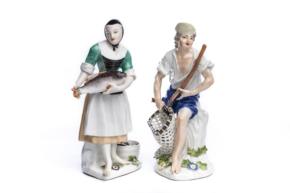 "Figure group ""Fishermen and Fisherwoman"", Meissen 1740/50 