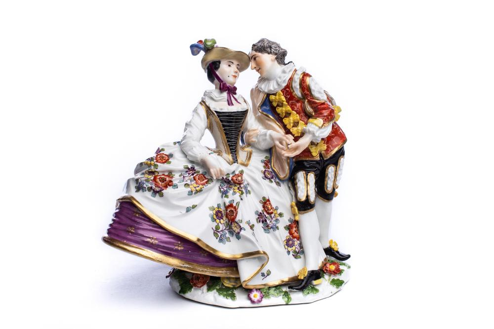 "Figure group ""Spanish lovers"", Meissen 1740 