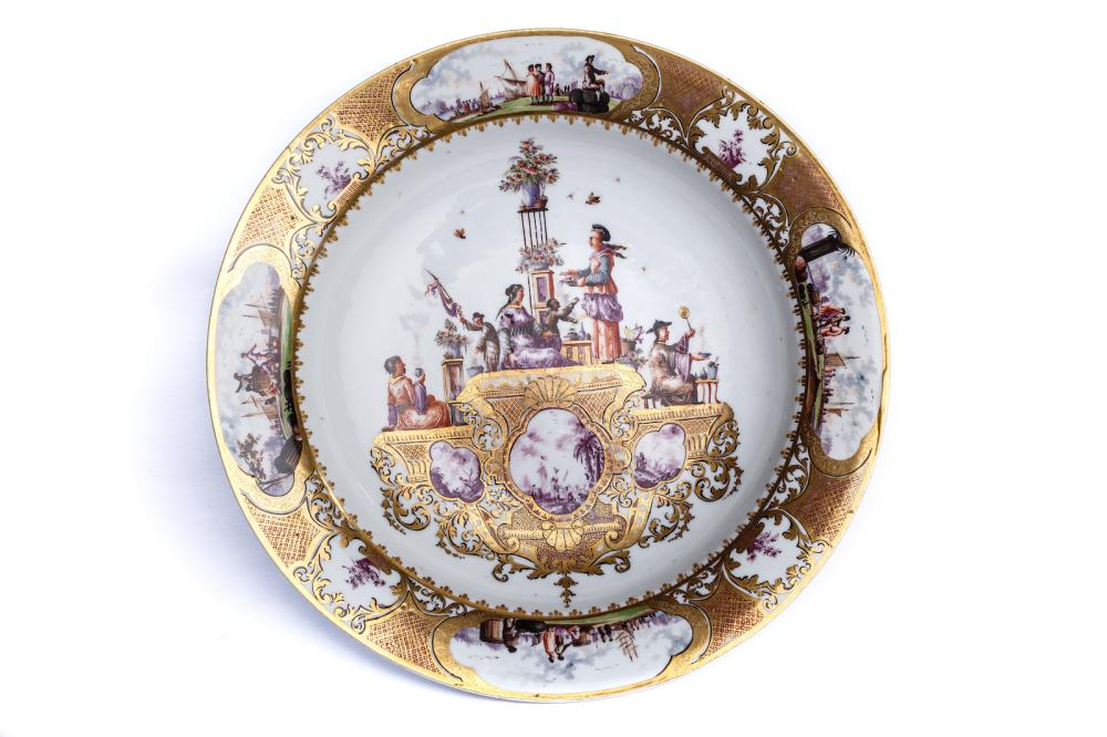 Exceptional splendor dish, Meissen 1735,  The Hoffmeister Collection | Außergewöhnlicher Prunkteller, Meissen 1735, The Hoffmeister Collection