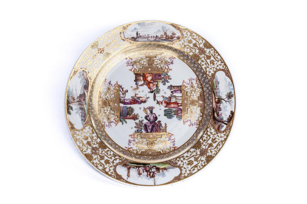Splendor plate Meissen, 1730/35 |Prunkplatte Meissen, 1730/35, The Hoffmeister Collection